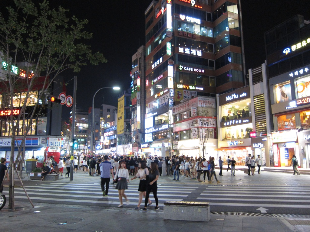 Hongdae, Seoul. How many cafes  can you spot?