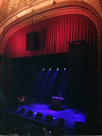 The stage at the Warfield Theater
